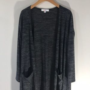 NWT LulaRoe gray sweater fabric Sarah